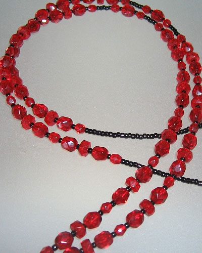 Red Beaded Lanyard