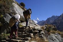 Sherpas y Ama Dablam