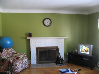 Before painting the fireplace