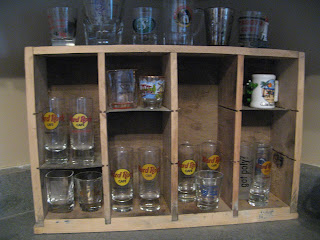 Utility Drawer Turned Collection Display Shelf
