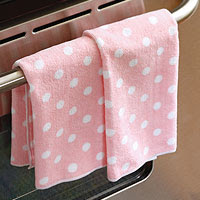 Pink Dots Microfiber Towels