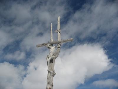 Gipfelkreuz Crespeiner Joch/ Col Turon