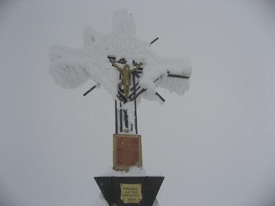 Gipfelkreuz Skitour Magerstein - Riesenfernergruppe