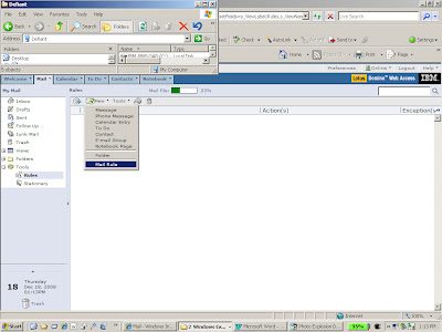 Configuring Lotus Notes to send email to another web client.