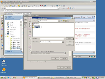 Archiving Lotus Notes email and folders to a local nsf file.