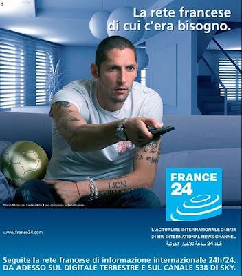 spot France 24 sul Digitale Terrestre con Marco Materazzi