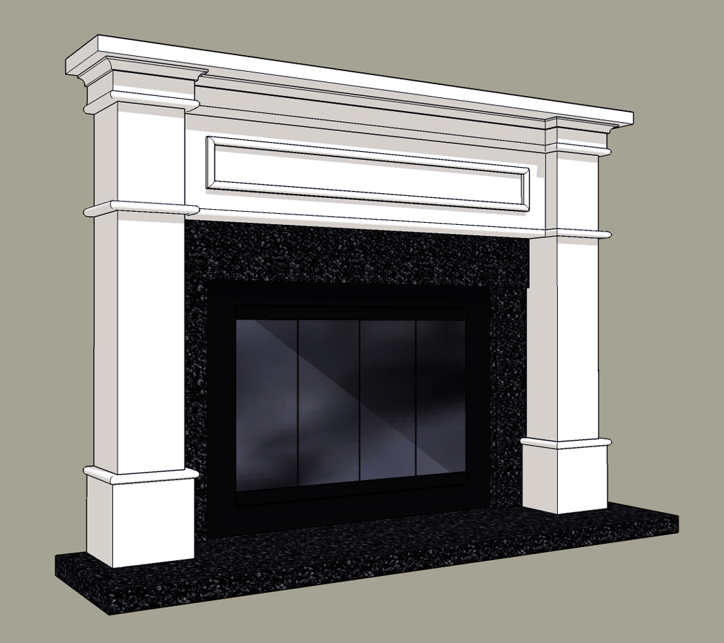 Brick Fireplace Mantel Surrounds | Home Decorating Ideas
