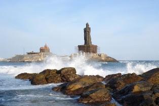 Thiruvalluvar statue & Vivekananda Rock Memorial, Cape Comerin, Kanyakumari