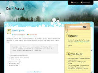 Download Dark Forest Blogger Template