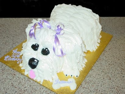 Doggie Birthday Cake On Place 3d Dog