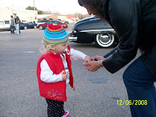 Bree Collecting Candy at the Parade