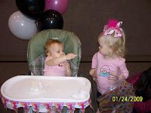 Sharing her cake w/ Bree