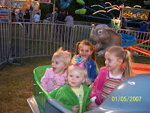 Riding the elephants with Sarah & Hannah Stewart and their cousin Kendall