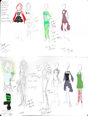 dress designs sketches. dress designs sketches. some