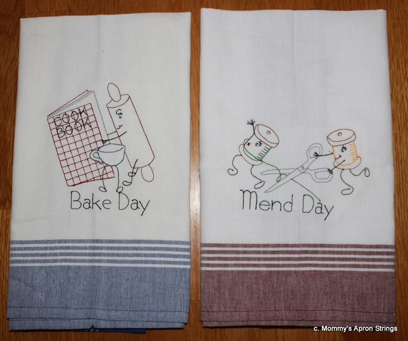 Today I Had Fun Embroidering These 2 Kitchen Towels With Vintage Curiosity  Designs By Sew Weird. I Love Juliu0027s Vintage Designs. They Always Stitch  Well And ...
