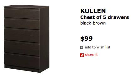 ikea kullen 5 drawer dresser bestdressers 2017. Black Bedroom Furniture Sets. Home Design Ideas