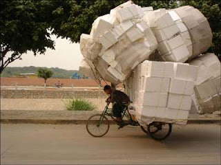 crazy bike rider overloaded funny