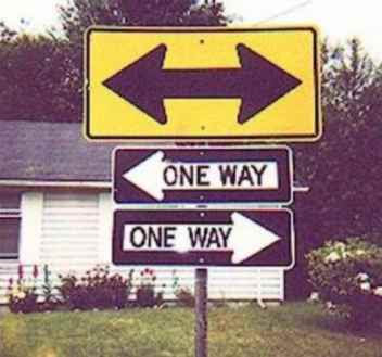 funny one way signs which way