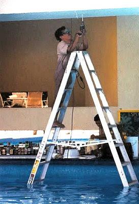 funny crazy pool ladder dangerous