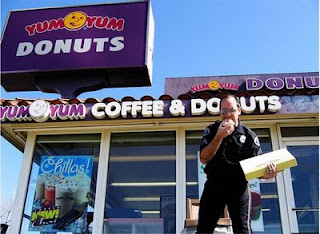 cops love yum yum donuts funny
