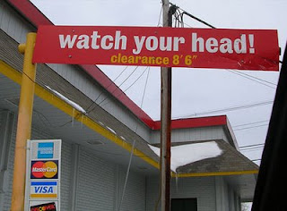 funny signs watch your head photo