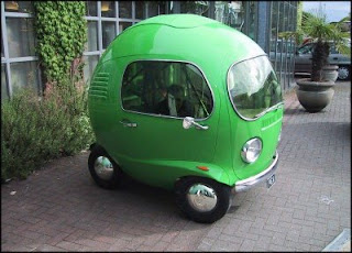 funny photos of little green car not a gm hybrid