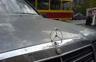 funny photos how to replace a missing mercedes car badge