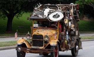 funny car photos old car that might have come from beverly hillbillies full of junk still roadworthy
