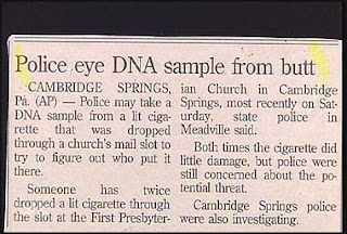 humorous news headlines police seek dna sample from butt funny