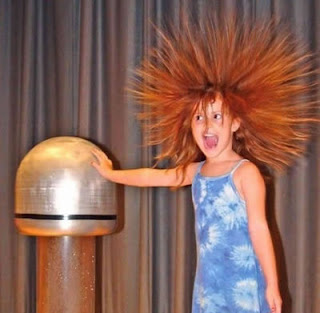 funny static electricity photos young girls hair on end