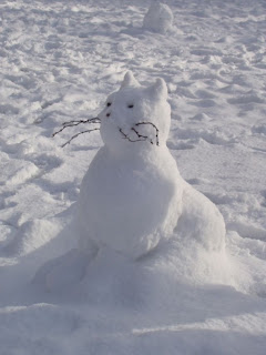 funny snowman photo of a cat with whiskers