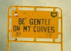 funny road signs be gentle on my curves