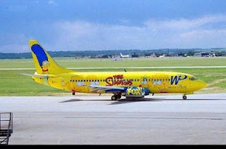 funny plane photos painted in the simpsons colors maybe homer is flying
