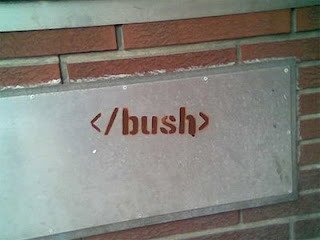 geeks humor the end of bush graffiti