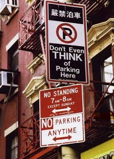 funny parking sign photos dont even think about it