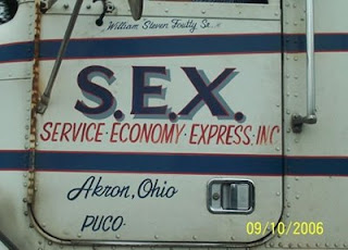 funy truck signs sex service economy express from akron ohio photo