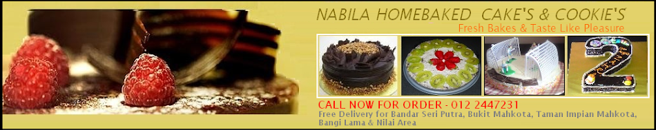 Nabila HomeBaked Cake's & Cookie's