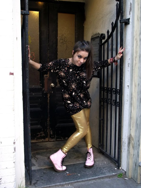 Gold Tights and Dr. Martins, Planet dress, Charleston fashion, Angel's Point of View, King Street Fashion, Charleston Couth Carolina Street Style and Fashion