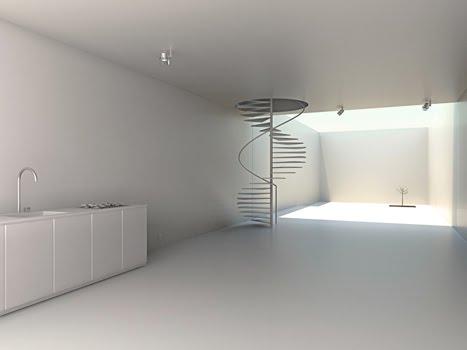 El caracol azul multiculturalidad en arquitectura for Casa minimalista interior