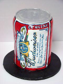 budweiser can cake