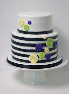modern black and white birthday cake - sweet cakes by rebecca