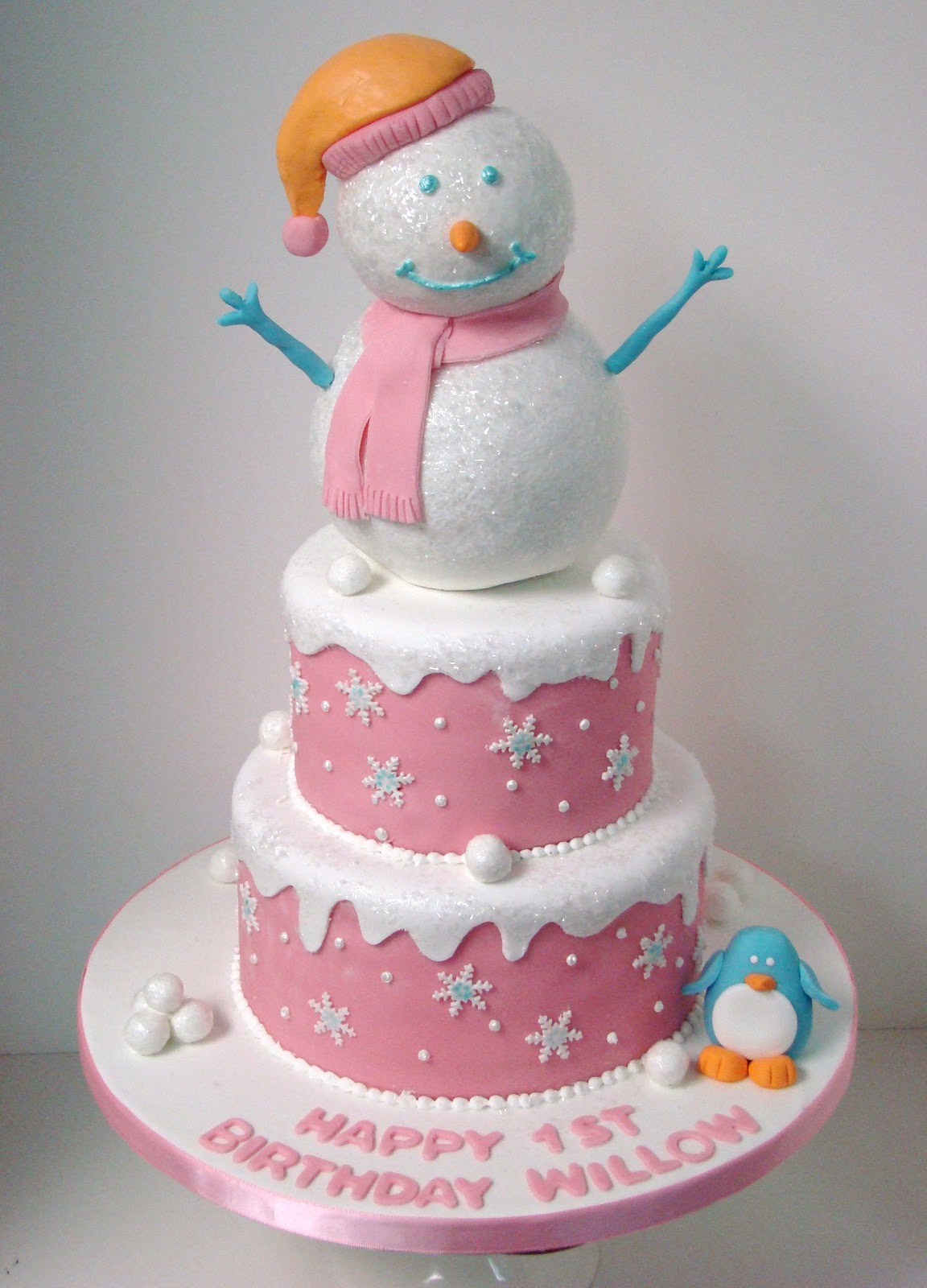 Images For Cute Cake : Sweet Cakes by Rebecca: Winter One-derland {First Birthday ...