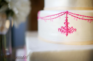 pink chandelier wedding cake - sweet cakes by rebecca