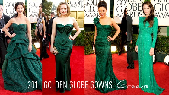 Red Carpet From Bright To Pale Other Por Colors Along With Clic Black Gowns Were Golds And The Richest Beautiful Hues In Emerald