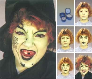 maquillaje de bruja niña