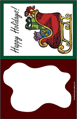Tarjetas para los regalos de Navidad