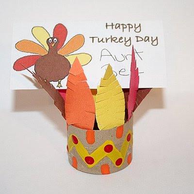 Manualidades con tubos de papel higiénico: día de Acción de gracias