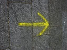 Denne pila viste meg veien...