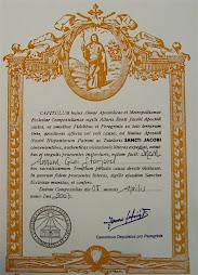 Mitt sertifikat som jeg holder så mye av