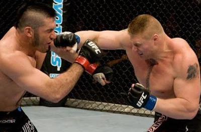 UFC 87 Brock Lesnar and Heath Herring